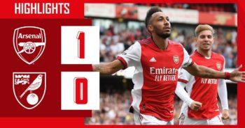 ไฮไลท์ฟุตบอล พรีเมียร์ลีก อังกฤษ อาร์เซนอล 1-0 นอริช ซิตี้