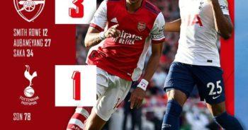 ไฮไลท์ฟุตบอล พรีเมียร์ลีก อังกฤษ อาร์เซนอล 3-1 สเปอร์