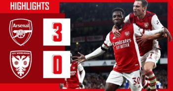 HIGHLIGHTS | Arsenal vs AFC Wimbledon (3-0) | Lacazette, Smith Rowe, Nketiah