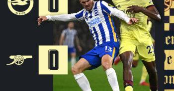 ไฮไลท์ฟุตบอล พรีเมียร์ลีก อังกฤษ ไบรท์ตัน 0-1 อาร์เซนอล